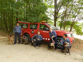 Unitat Canina dels bombers a les comarques gironines